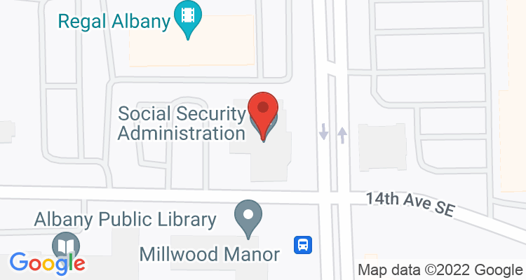 Albany, OR Social Security Office Map