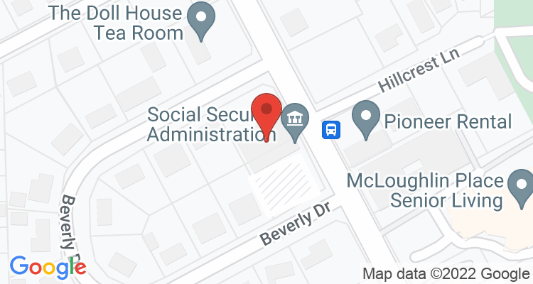 Oregon City, OR Social Security Office Map