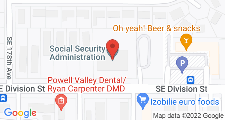 Portland, OR Social Security Office Map