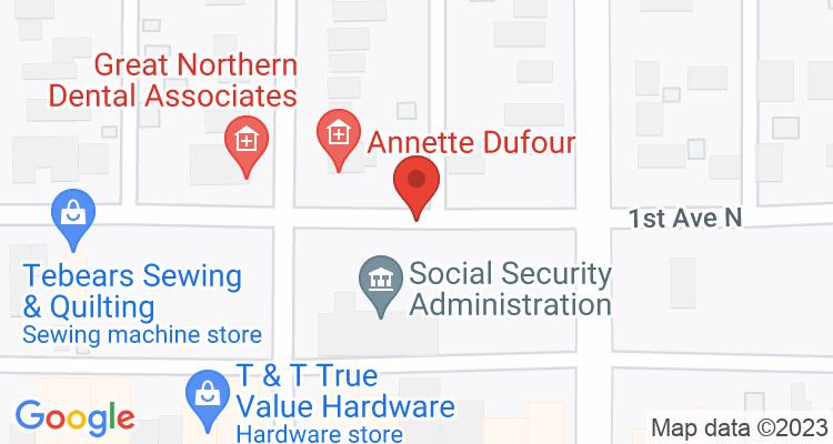Escanaba, MI Social Security Office Map