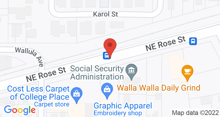 College Place, WA Social Security Office Map