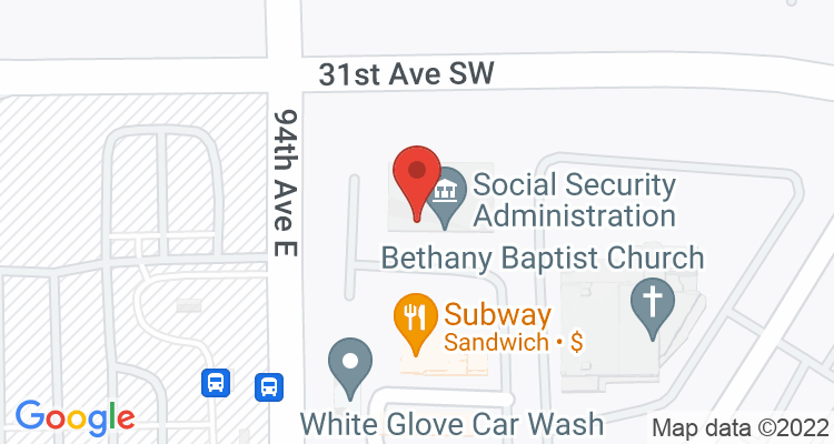 Puyallup, WA Social Security Office Map