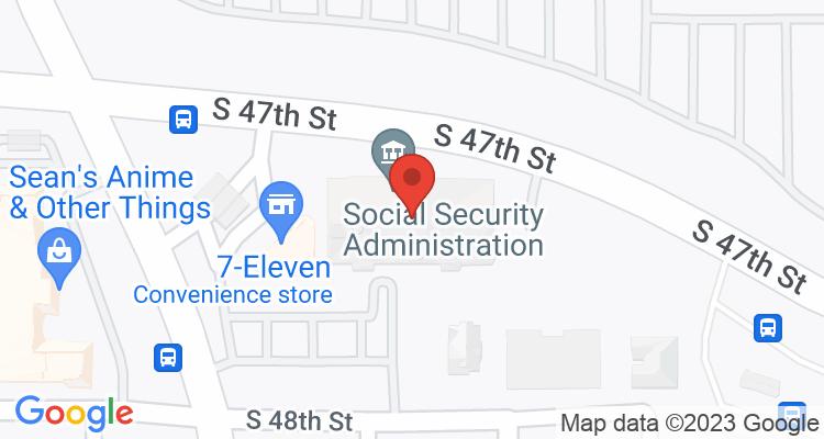 Tacoma, WA Social Security Office Map