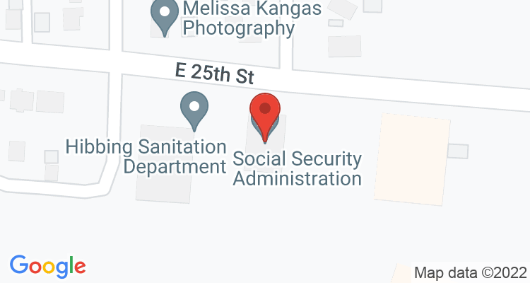 Hibbing, MN Social Security Office Map