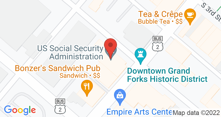Grand Forks, ND Social Security Office Map