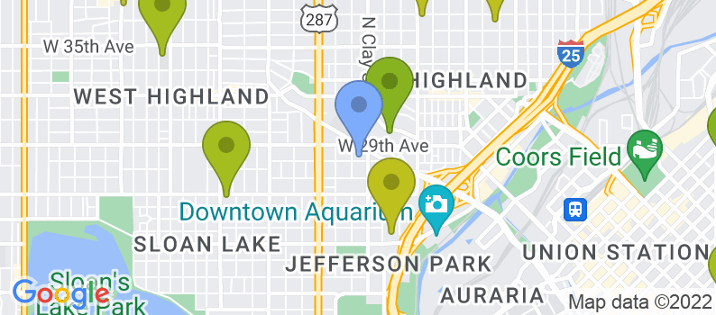 Staticmap?size=397x175&scale=2&center=2729+w+28th+avenue+denver,+co+80211&zoom=13&markers=color:blue%7c2729+w+28th+avenue+denver,+co+80211&markers=color:0x559f23%7c39.745365, 104.929489%7c39.723732, 104.938568%7c39.710209, 104.971649%7c39.749825, 104.982193%7c39.713699, 104.979866%7c39.828514, 105.03167&markers=color:0x6ba721%7c39.721989, 104.957329%7c39.734417, 104.943588&markers=color:0x86b31f%7c39.703568, 104.981102%7c39.737659, 104.977081%7c39.772423, 105.031441%7c39.75919, 105.018394%7c39.728344, 105.106483%7c39.755878, 104.985847%7c39.728405, 104.995682&markers=color:0xa3be1e%7c39.754498, 105.033958%7c39.741585, 104.955986%7c39.764877, 105.039986%7c39.709698, 105.012184%7c39.768948, 104.949013%7c39.718987, 105.092552%7c39.733295, 105.083237%7c39.79351, 105.035011%7c39.74575, 104.985756&markers=color:0xbdc01d%7c39.767395, 105.008392%7c39.732555, 105.045967%7c39.699802, 105.028526%7c39.729961, 104.973709%7c39.752777, 104.972946%7c39.767784, 105.015289%7c39.798107, 105.086044%7c39.733295, 105.083237%7c39.81361, 105.073372%7c39.751965, 105.09314%7c39.763771, 105.104515%7c39.725266, 104.993744%7c39.768555, 105.043732%7c39.73452, 105.001228%7c39.708931, 105.011436%7c39.751812, 105.018211&markers=color:0xd2b81a%7c39.786179, 105.017845%7c39.757729, 104.956497%7c39.734207, 105.02063%7c39.776894, 104.986168%7c39.707844, 105.045006%7c39.721817, 105.046471%7c39.767513, 104.967728%7c39.737537, 105.105309%7c39.821285, 105.063744%7c39.824764, 105
