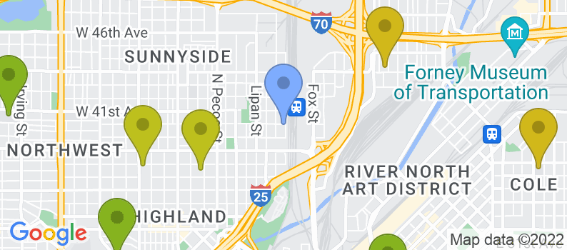 Staticmap?size=397x175&scale=2&center=900+w+40th+avenue+denver,+co+80211&zoom=13&markers=color:blue%7c900+w+40th+avenue+denver,+co+80211&markers=color:0x559f23%7c39.745365, 104.929489%7c39.723732, 104.938568%7c39.710209, 104.971649%7c39.749825, 104.982193%7c39.753796, 104.921638%7c39.713699, 104.979866%7c39.828514, 105.03167&markers=color:0x6ba721%7c39.721989, 104.957329%7c39.734417, 104.943588&markers=color:0x86b31f%7c39.703568, 104.981102%7c39.737659, 104.977081%7c39.772423, 105.031441%7c39.75919, 105.018394%7c39.748058, 104.911888%7c39.755878, 104.985847%7c39.728405, 104.995682&markers=color:0xa3be1e%7c39.754498, 105.033958%7c39.741585, 104.955986%7c39.764877, 105.039986%7c39.72377, 104.93499%7c39.709698, 105.012184%7c39.768948, 104.949013%7c39.79351, 105.035011%7c39.74575, 104.985756%7c39.753796, 104.921638&markers=color:0xbdc01d%7c39.767395, 105.008392%7c39.732555, 105.045967%7c39.729961, 104.973709%7c39.731964, 104.925186%7c39.752777, 104.972946%7c39.767784, 105.015289%7c39.798107, 105.086044%7c39.81361, 105.073372%7c39.837662, 104.974571%7c39.725266, 104.993744%7c39.768555, 105.043732%7c39.73452, 105.001228%7c39.708931, 105.011436%7c39.751812, 105.018211&markers=color:0xd2b81a%7c39.825645, 104.93708%7c39.786179, 105.017845%7c39.757729, 104.956497%7c39.734207, 105.02063%7c39.776894, 104.986168%7c39.721817, 105.046471%7c39.767143, 104.91835%7c39.767513, 104.967728%7c39.821285, 105.063744%7c39.838535, 105.020096%7c39.824764, 105