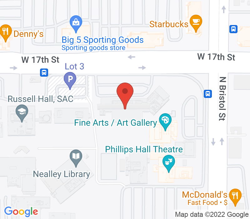 Map of 1530 W. 17th Street, Santa Ana, CA 92706