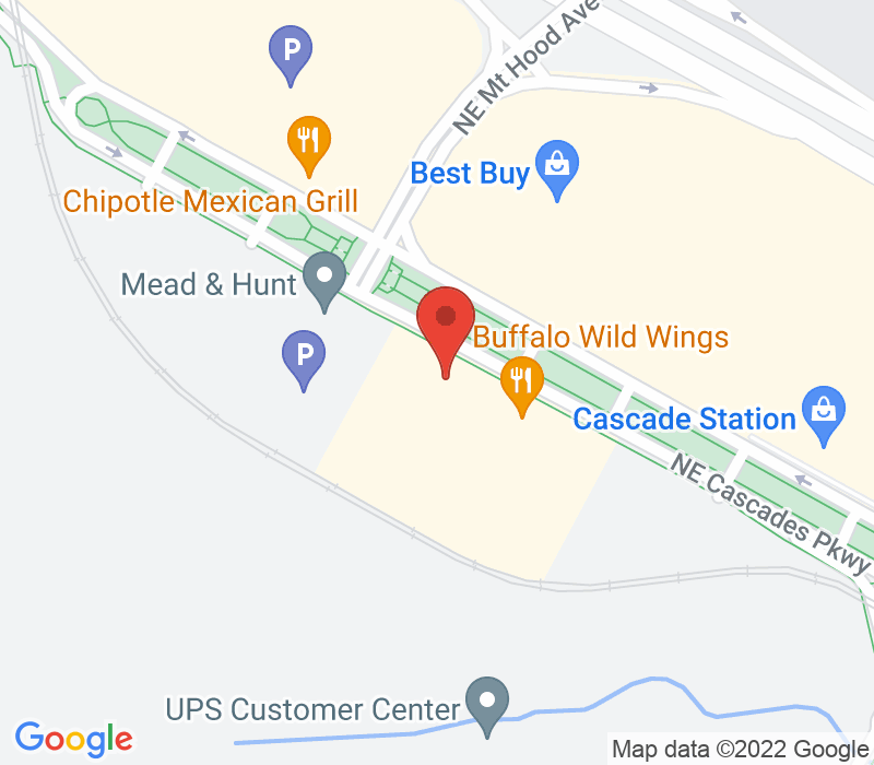 Map of 9750 Cascades Parkway, Portland, OR