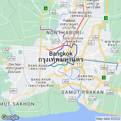 Karte von Bangkok