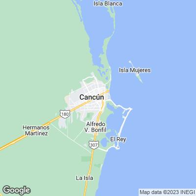 Cancun Städtereisen Karte