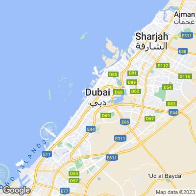 Städtereisen Dubai Karte