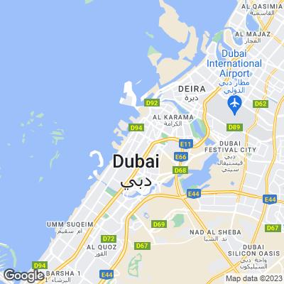 Karte von Dubai
