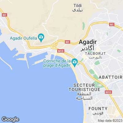 Karte von Agadir