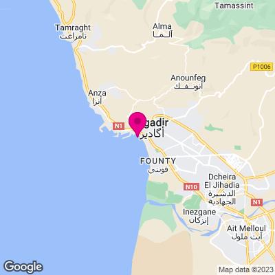 Karte Städtereise Agadir
