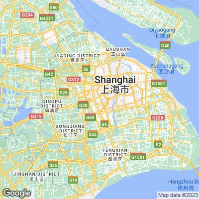 Karte von Shanghai