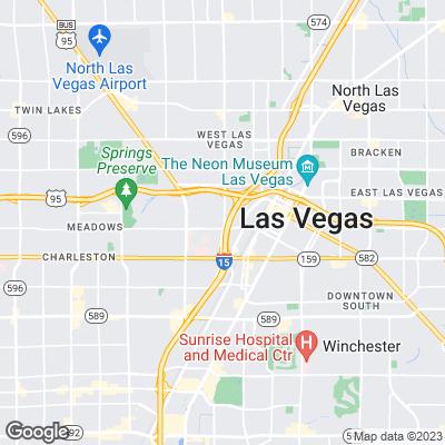 Karte von Las Vegas