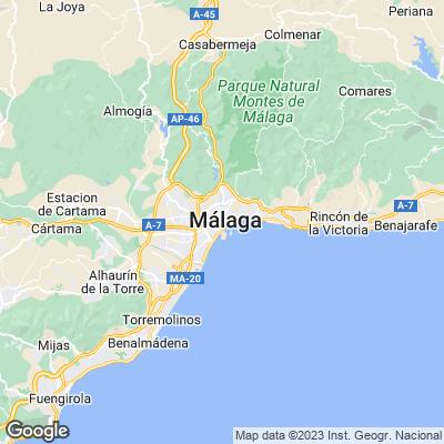 Städtereisen Malaga Karte