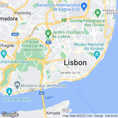 Karte von Lissabon