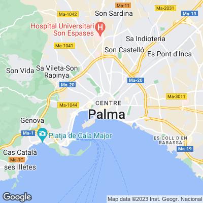 Karte von Palma de Mallorca