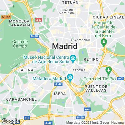 Karte von Madrid