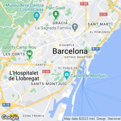Karte von Barcelona