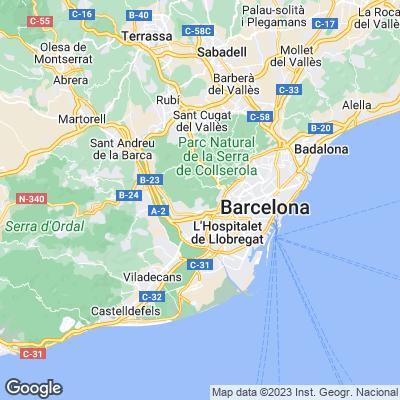 Barcelona Städtereisen Karte