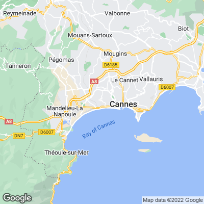 Karte von Cannes