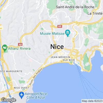Karte von Nizza