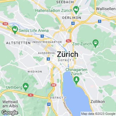 Karte von Zürich