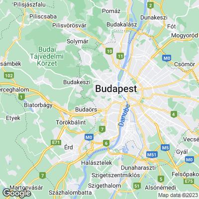 Karte von Budapest