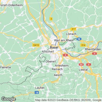 Basel Städtereisen Karte