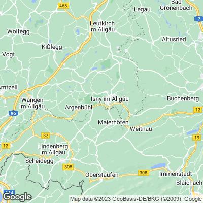 Karte von Allgäu
