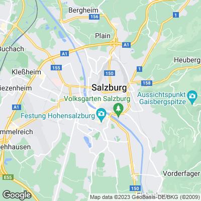 Karte von Salzburg