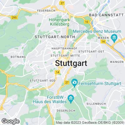 Karte von Stuttgart