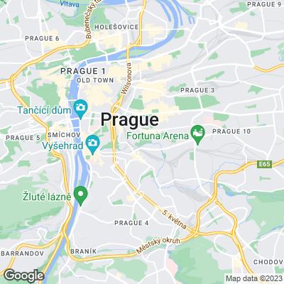 Karte von Prag