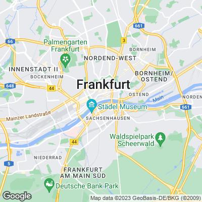 Karte von Frankfurt