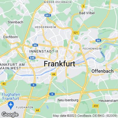 Städtereisen Frankfurt am Main Karte
