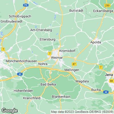 Karte Weimar