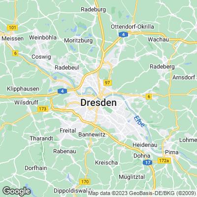 Karte von Dresden