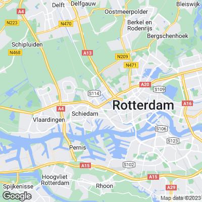 Karte von Rotterdam