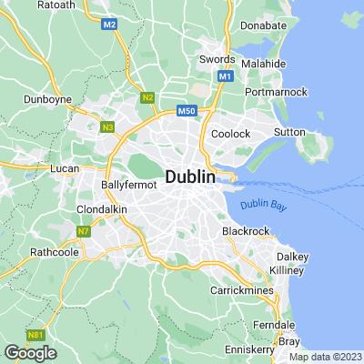 Dublin Städtereisen Karte