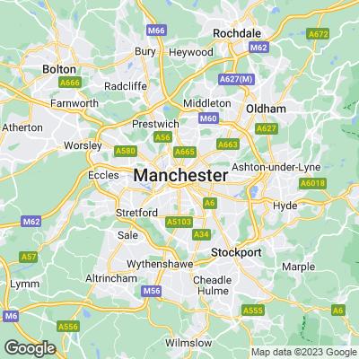 Manchester Städtereisen Karte