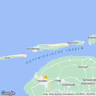 Karte Norderney