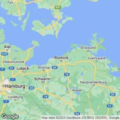 Karte von Ostsee
