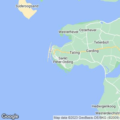 Karte St. Peter Ording