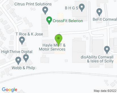 Map for Hayle MOT & Motor Services