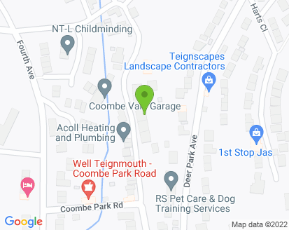 Map for Coombe Vale Garage
