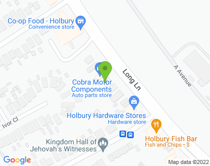 Map for Holbury Service Station