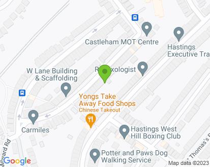 Map for Castleham MOT Test Centre Ltd